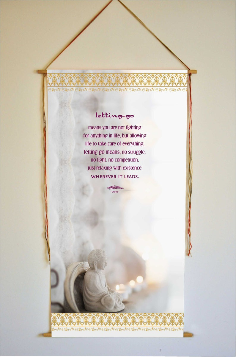 Citaten Over Vertrouwen : Boeddha osho citaat vertrouwen let go relax inspirerende etsy