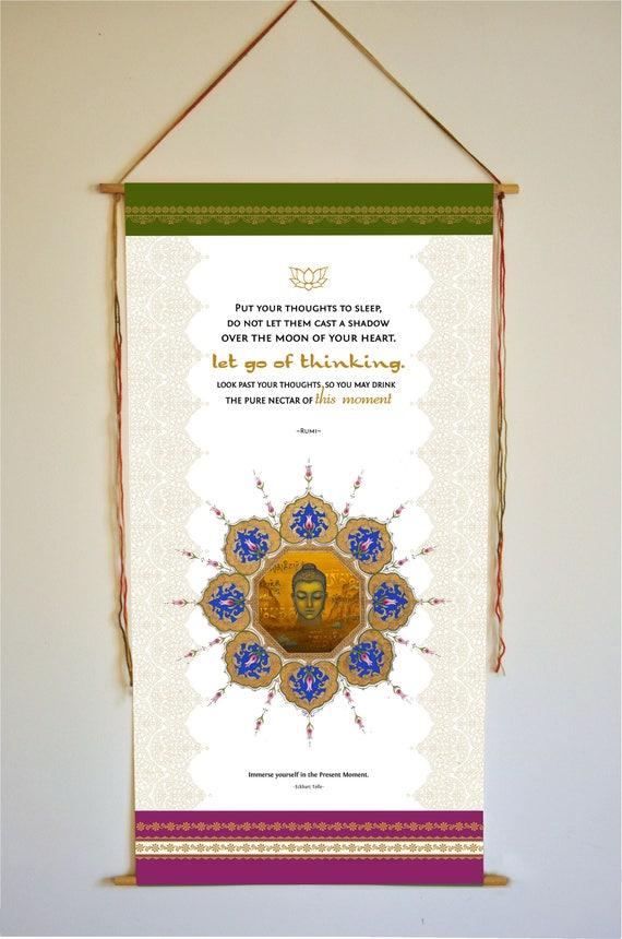 Rumi Eckhart Tolle Wandkunst Inspirierende Zitat Loslassen Meditation Geschenke Yoga Dekor Sufi Kunst Buddha Meditation Dekor Yoga Dekor