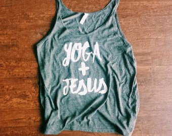 Yoga and Jesus Flowy Tank