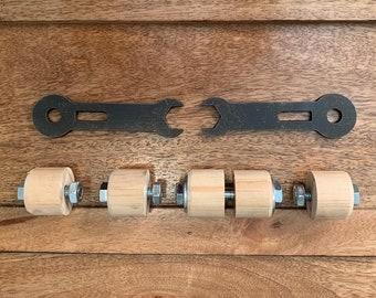 Wooden Handles Upgrade Kit / Steampunk Lighting / Steampunk Design / Modern Lighting / Industrial Lighting / Unique Decor / Unique Lighting