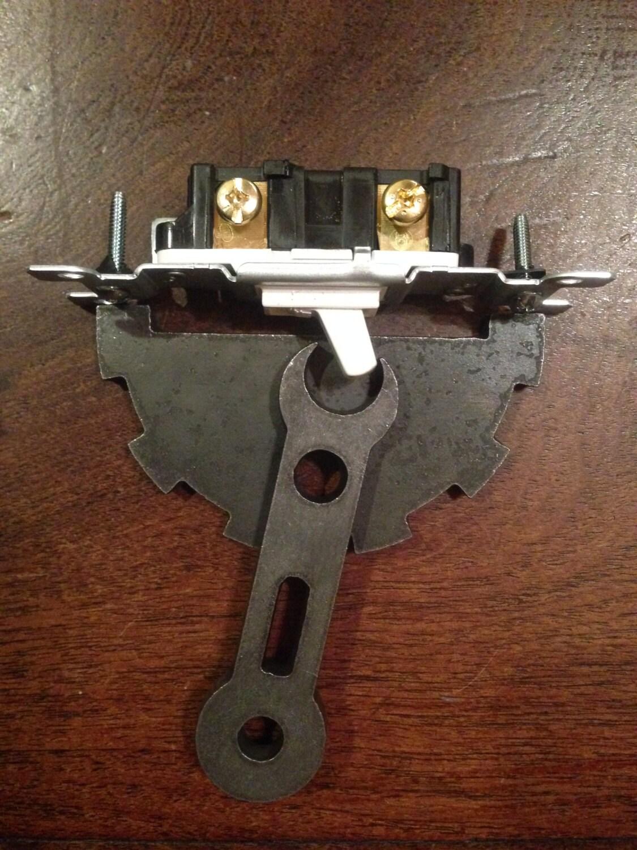 Steel Light Switch Cover With Garage Door Opener Button