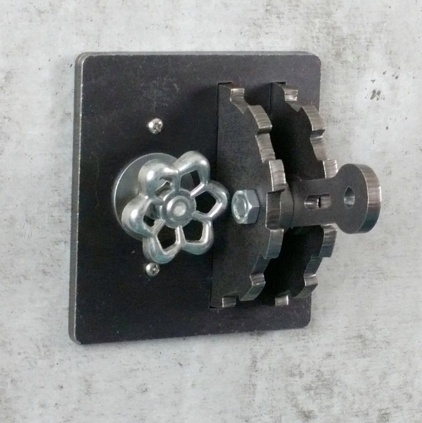 Dimmer Light Switch Cover Gear Lever Steel Urban Industrial
