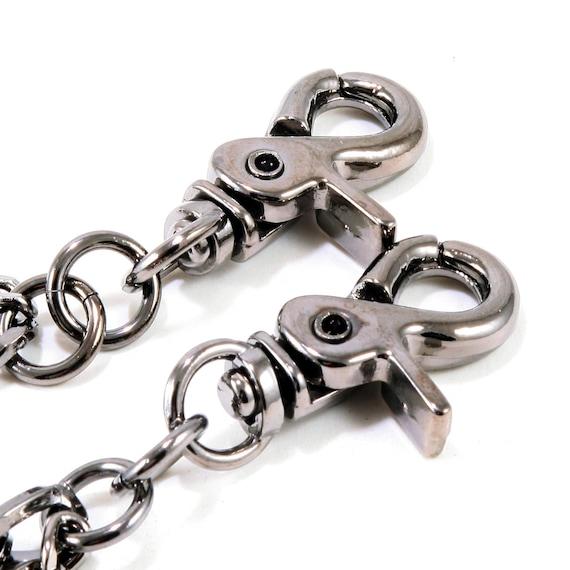 30/' Vintage Handmade Long Strong Biker Trucker 5mm Leather Key Jean Wallet Chain