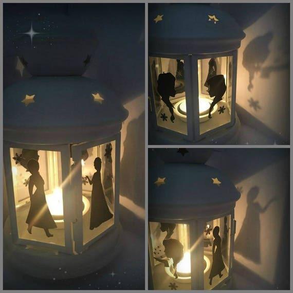 Handmade Frozen inspired Lantern,Elsa Lamp