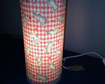 Cat print bedside lamp