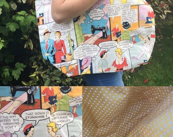 Comic fashion printed bag