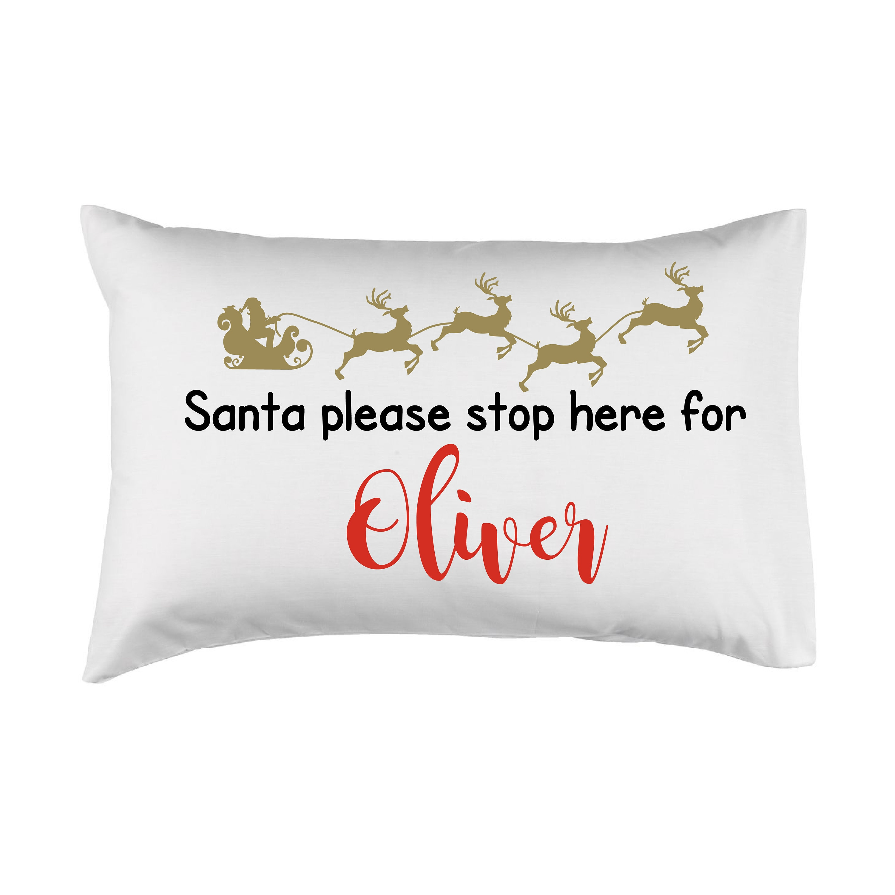 Personalised pillow case christmas eve pillow christmas eve | Etsy