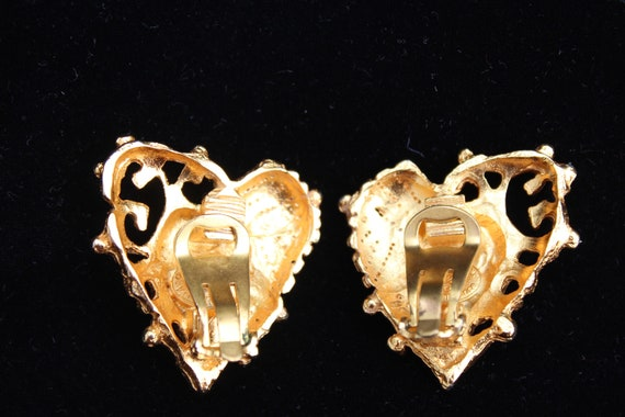 Christian lacroix  earrings heart shapped - image 4