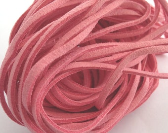 Pink suede cord, pink suede, pink cord, jewellery accessory, necklace accessory, suede necklace,pink necklace, pink necklace, casual jewelry