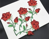 3 PCS Embroidered Patches,Flower Patch, Embroidered rose patch for summer, short sleeve, festival, boho, black, blush, peach, sage, trendy