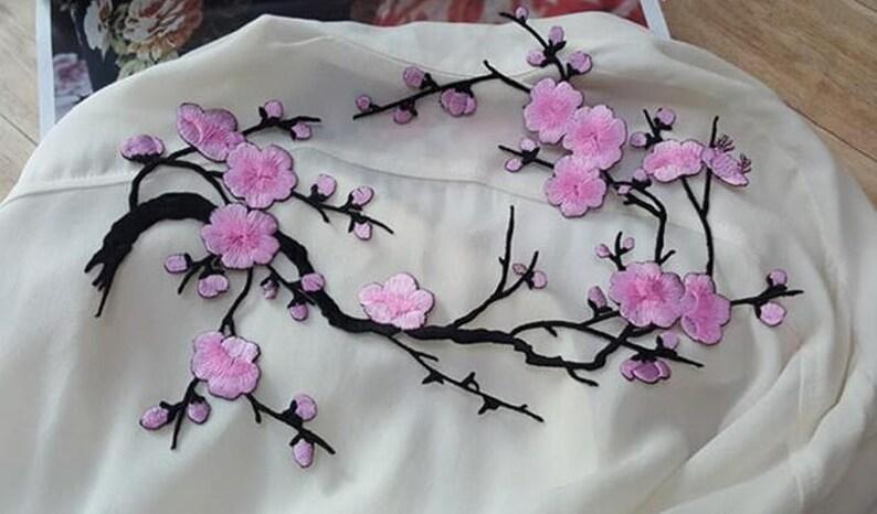 Toppe in tessuto applique floreali rosa fiori di ciliegio etsy