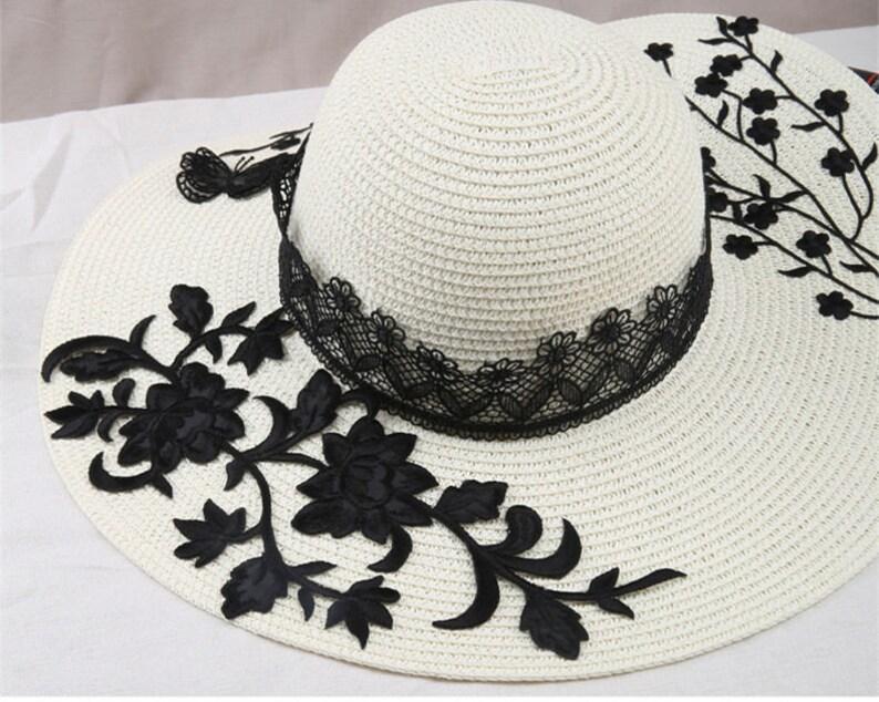 Macchia nera per cappelli ricamato applique patch su ferro etsy