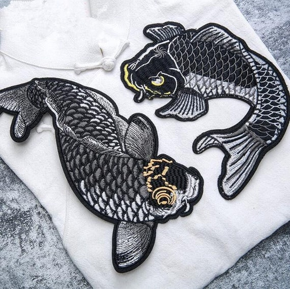 Lucky Japanese Koi Fish Motorcycle Biker Large back Patch XL