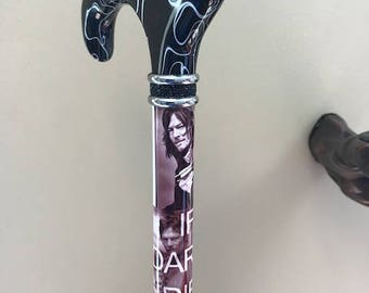 Custom design walking canes, can design and make anything you would like to see on a cane walking dead Daryl Dixon