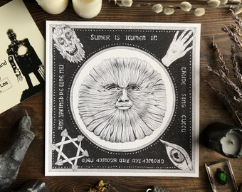 Sumer is icumen in ... The Wicker Man 1973 fan art. Nature worship, heathen, pagan, Old Gods, Hand of Glory, British Lion