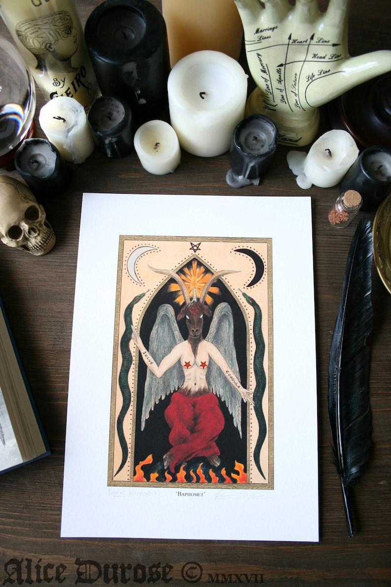 Baphomet A4 Fine Art Print. Mature Content. Sabattic goat image 0