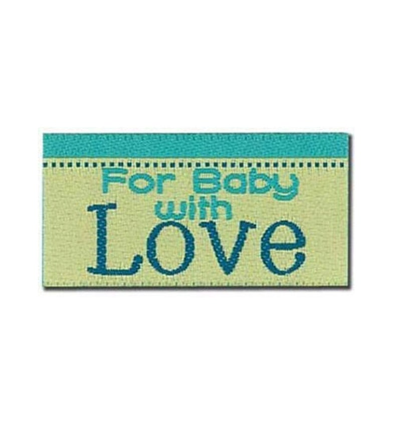 La Mode Iron-on or Sew on Clothing Garment Tags Labels Lovelabels ~ For Baby with Love ~ BL-2571