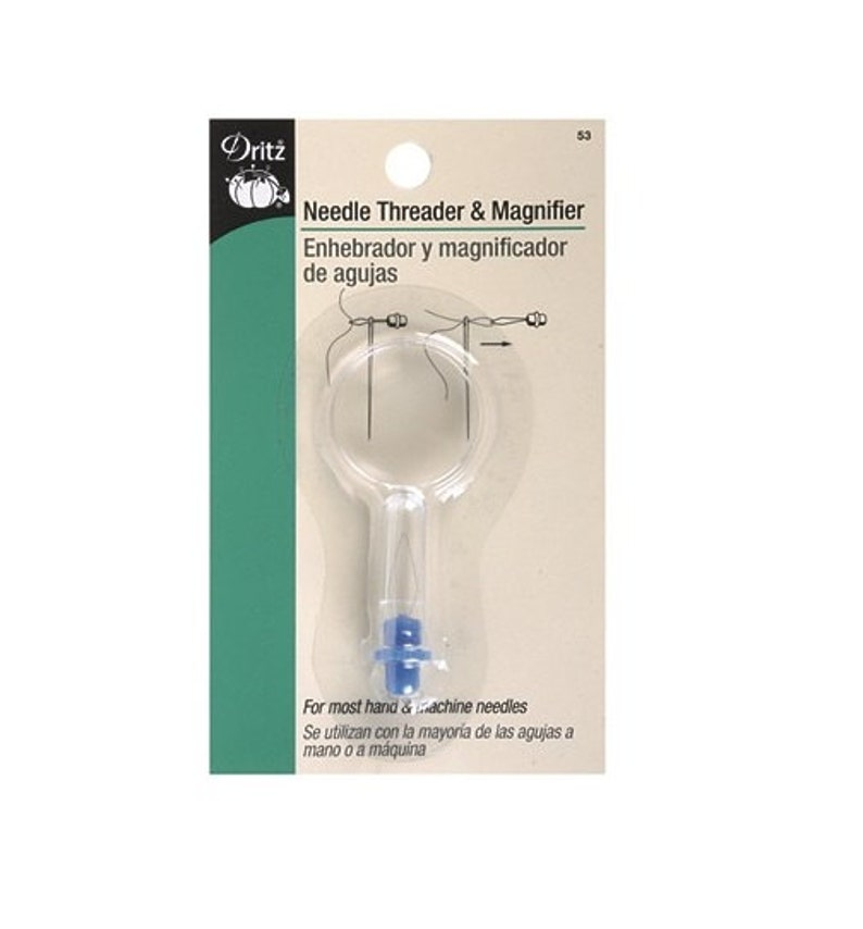 Assists in Threading The Needle By HEMLINE Needle Threader with Magnifier