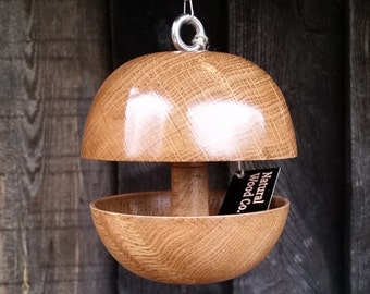 "Oak ""Applecore"" Bird feeder - Small"