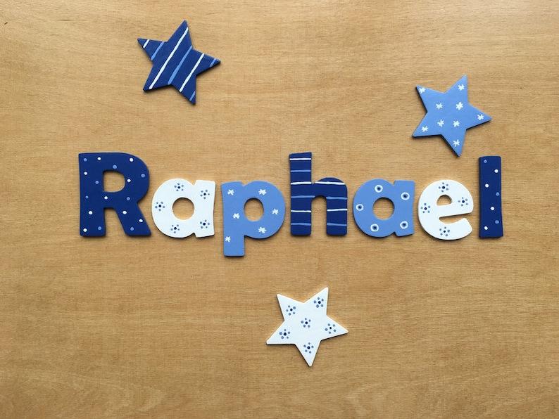Tolle Holzbuchstaben für Kinderzimmer-Tür Sternjunge von | Etsy