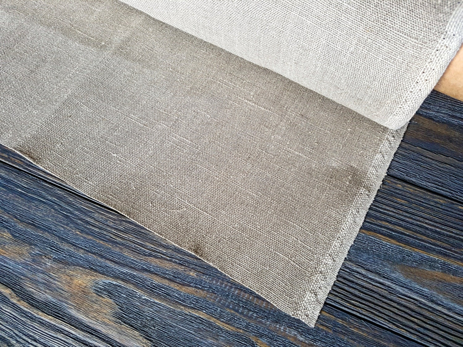 Rough Linen Fabric By The Meter Heavy Linen Fabric By The Etsy