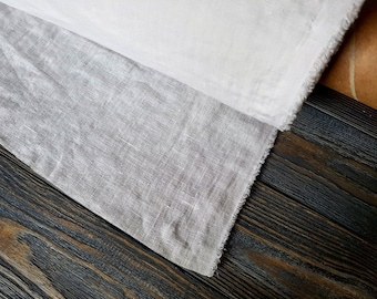 """Softened white linen fabric by the meter, organic fabric pure flax fabric, width 140cm 55"""" white stonewashed linen fabric by the yard 200GSM"""