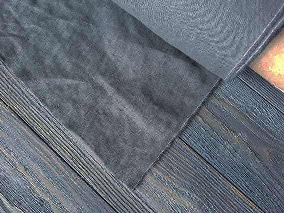 lav de tissu en lin graphite au m tre tissu graphite lin etsy. Black Bedroom Furniture Sets. Home Design Ideas