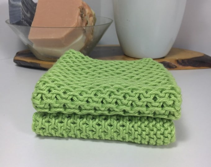 Knit cotton washcloth / pima cotton washcloth / luxury washcloth / spa cloth / luxury skincare / natural skincare / green washcloth