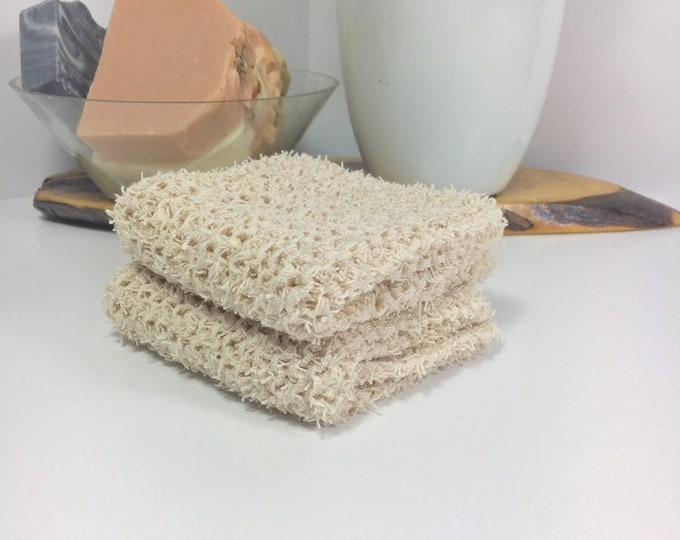 Knit washcloth / scrubby washcloth / free shipping / farmhouse decor / neutral decor / washcloth / skincare