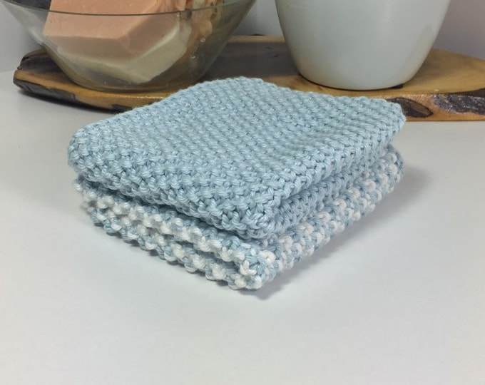 Knit cotton washcloth / pima cotton washcloth / luxury washcloth / spa cloth / luxury skincare / natural skincare
