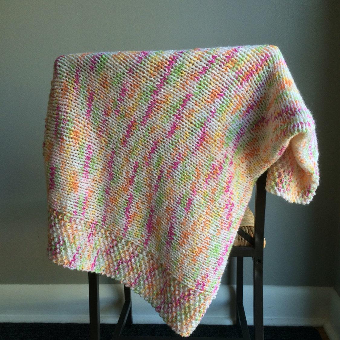 Sale Knit Baby Blanket Ready To Ship Baby Blanket Knit Boho Baby
