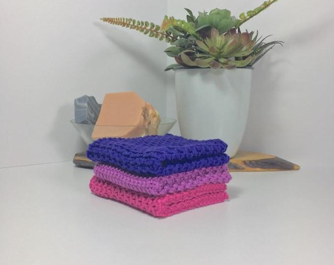 Knit cotton washcloth / pima cotton washcloth / luxury washcloth / spa cloth / luxury skincare / natural skincare