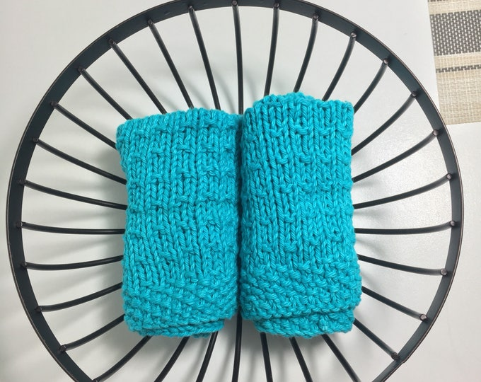 Green dishcloth - knitted dishcloth - natural cleaning - eco friendly gift - ready to ship - gift basket ideas - gift box