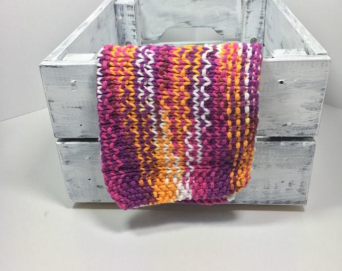 Knit dishcloth ~ knit washcloth ~ boho chic ~ boho decor  ~ eco friendly gift  ~knitted washcloths ~ cotton washcloth ~ skincare ~ hand knit