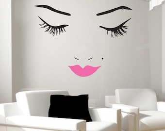 Beautiful Face Wall Decal