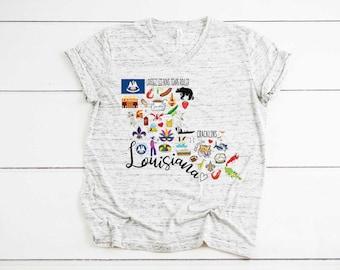 Louisiana Lifestyle Louisiana Established Triangle WHT Louisiana Men/'s Cotton T-Shirt