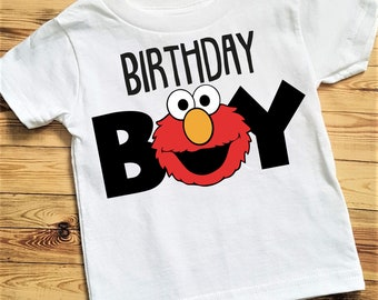Elmo Birthday Shirt Boy Sesame Street Elmos World Boys