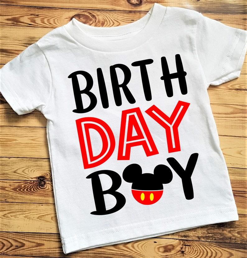 Mickey Mouse Birthday Boy Shirt