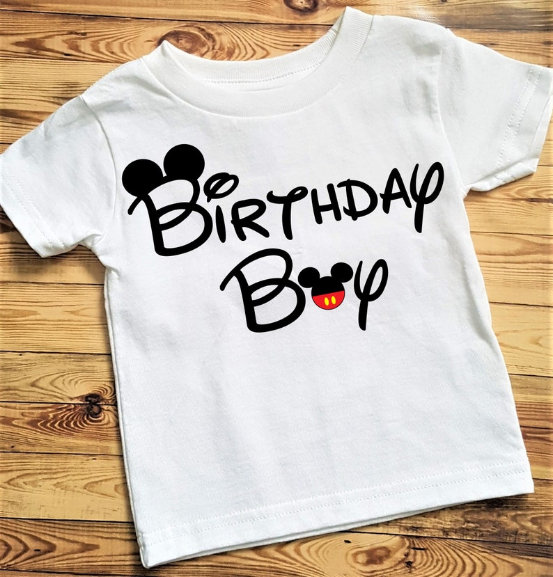 Mickey Mouse Birthday Shirt Boy