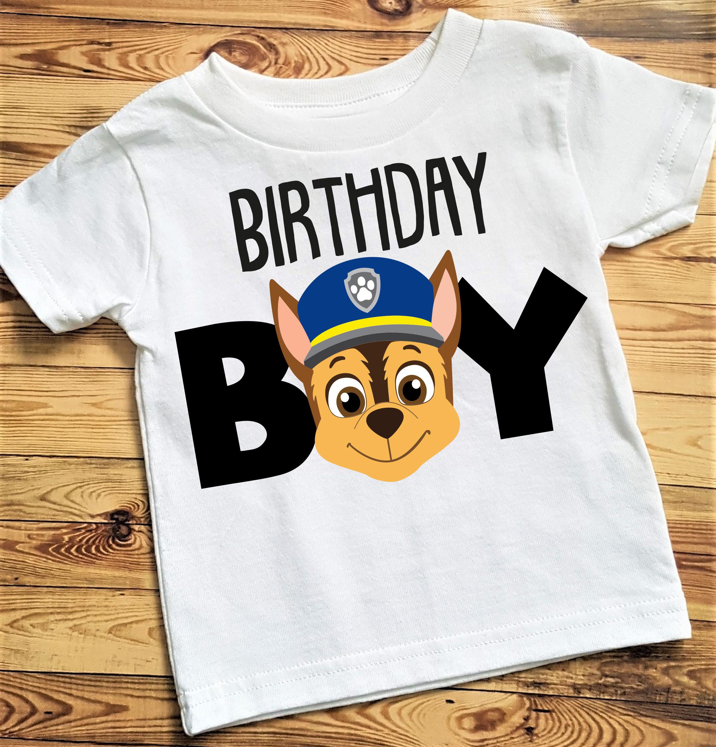 Paw Patrol Birthday Shirt Chase Boy