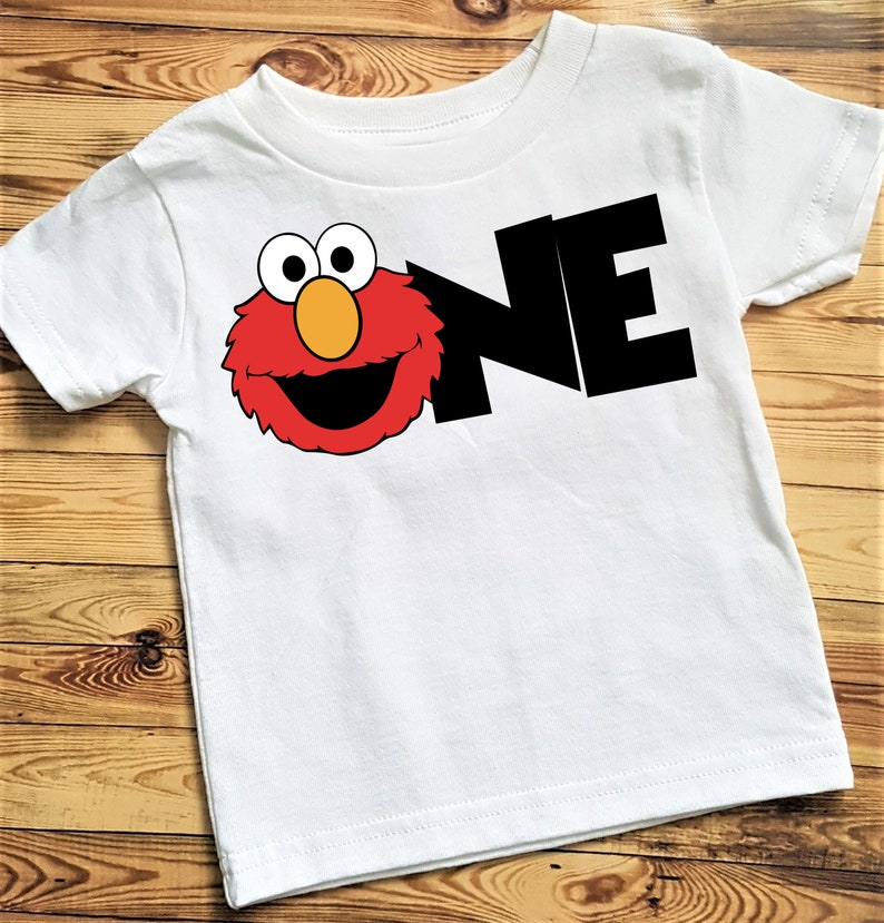 9bed82e16 Elmo First Birthday Shirt Elmo Birthday Shirt Elmo Shirt One | Etsy