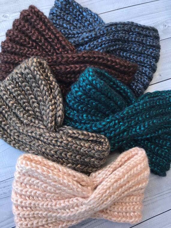headwrap earwarmer turban Knitted headband wool headband winter hadband pink headband Criss-cross Ear Warmer autumn headband