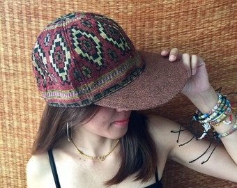 8c46cbc4335 Southwest Tribal Boho Cap Hat Men Festival hat baseball Snapback cap Hippie  Festival accessories Street Southwestern style gift for her him