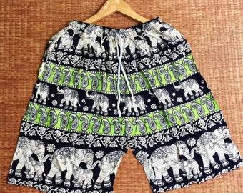 PP0036 Lace Shorts Elephant Print Beach Summer Hippies Boho Fashion Chic Clothing Aztec Ethnic Bohemian Ikat Boxers Short Pants Unique