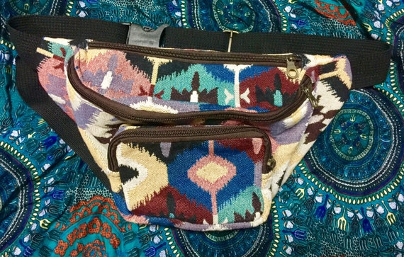 Belt Bag Ethnic Bag Embroidered Bag Pouch Bag Boho Bag Zipper Bag Waist Bag Gypsy Bag Hippie Bag Festival Bag Tribal Bag Hmong Bag