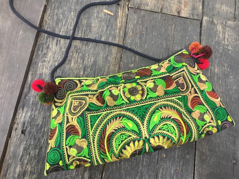 b796455fd94d Unique Embroidered Florals Boho Clutch Festival purse women | Etsy