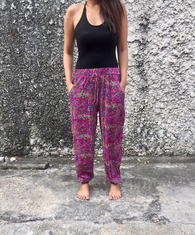 Yoga Pants Paisleys Style Slim Cut Legs Festival Women