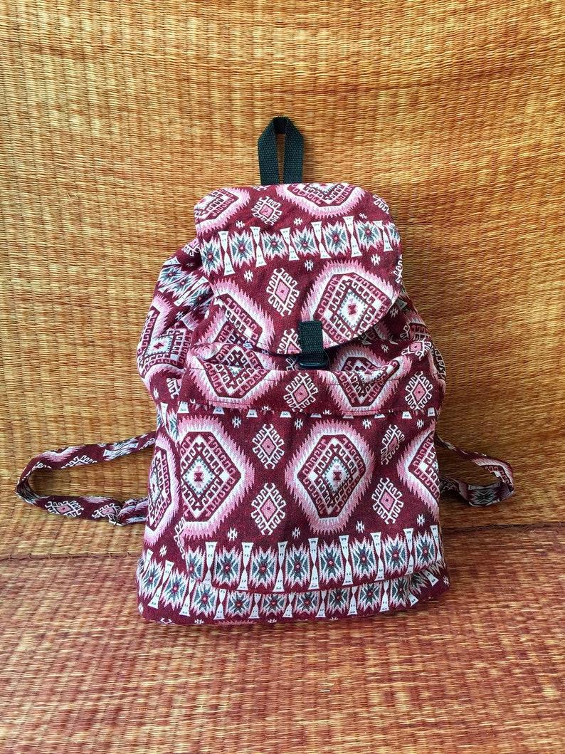 85cc5ebda0e1 Ethnic Boho Backpack Festival Travel School bag Hippie Woven Tribal Aztec  Style Native Southwestern Design Vegan Rucksack Gift for Men women