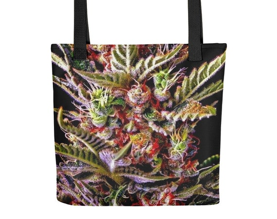 420 Festival Bag and Purse, Weed Beach Bag with Cannabis Flower Design