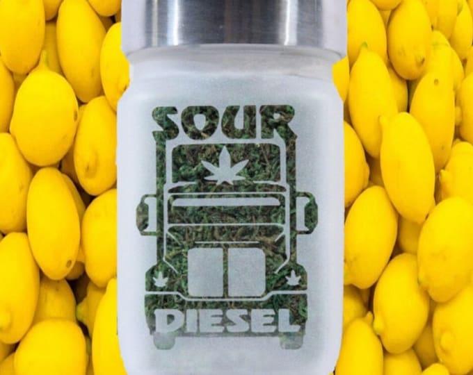 Sour Diesel Weed Stash Jar